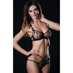 CAPRICE sheer outlined sexy lingerie panties M